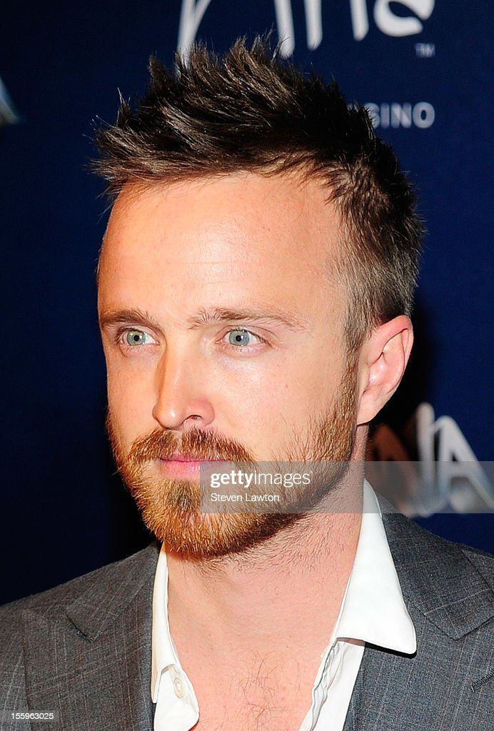 Actor Aaron Paul arrives at the Las Vegas premiere of 'Zarkana by Cirque du Soleil' at the Aria Resort & Casino at CityCenter on November 9, 2012 in Las Vegas, Nevada.