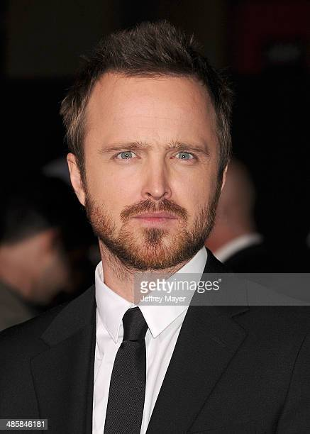 Actor Aaron Paul arrives at the Los Angeles premiere of 'Need For Speed' at TCL Chinese Theatre on March 6 2014 in Hollywood California