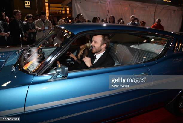 Actor Aaron Paul arrives at the premiere of DreamWorks Pictures' 'Need For Speed' at TCL Chinese Theatre on March 6 2014 in Hollywood California