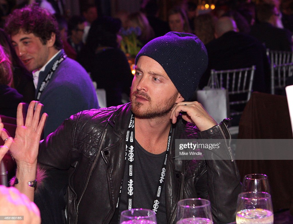 Actor Aaron Paul attends An Artist at the Table: Dinner Program during the 2014 Sundance Film Festival at Stein Eriksen Lodge on January 16, 2014 in Park City, Utah.