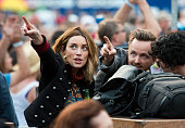 Actor Aaron Paul attends Dead Company's concert in concert at Citi Field on June 25 2016 in the Queens borough of New York City