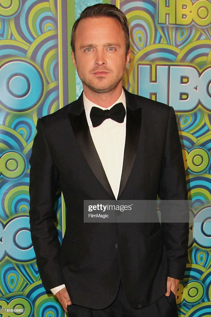 Actor <a gi-track='captionPersonalityLinkClicked' href=/galleries/search?phrase=Aaron+Paul+-+Actor&family=editorial&specificpeople=693211 ng-click='$event.stopPropagation()'>Aaron Paul</a> attends HBO's official Emmy after party at The Plaza at the Pacific Design Center on September 22, 2013 in Los Angeles, California.