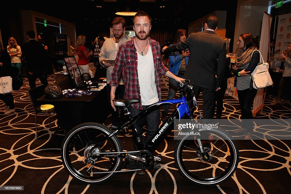 Actor Aaron Paul attends Kari Feinstein's Pre-Academy Awards Style Lounge at W Hollywood on February 22, 2013 in Hollywood, California.