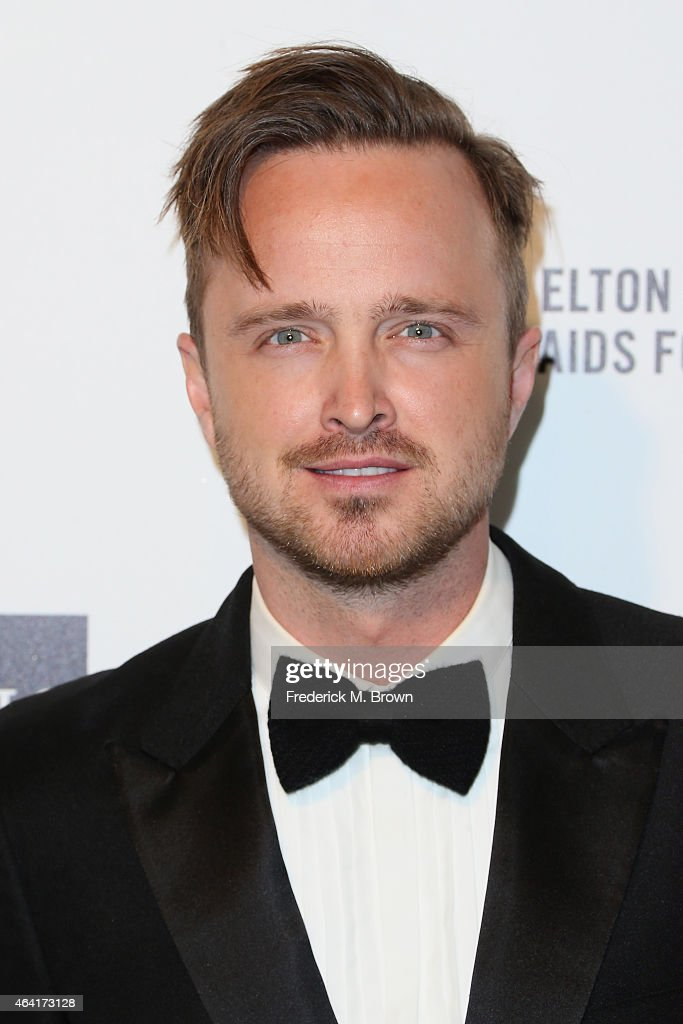 Actor Aaron Paul attends the 23rd Annual Elton John AIDS Foundation's Oscar Viewing Party on February 22, 2015 in West Hollywood, California.