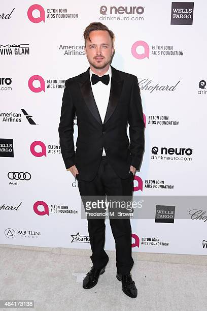 Actor Aaron Paul attends the 23rd Annual Elton John AIDS Foundation's Oscar Viewing Party on February 22 2015 in West Hollywood California