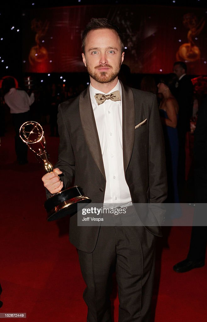 Actor <a gi-track='captionPersonalityLinkClicked' href=/galleries/search?phrase=Aaron+Paul+-+Actor&family=editorial&specificpeople=693211 ng-click='$event.stopPropagation()'>Aaron Paul</a> attends the 64th Primetime Emmy Awards Governors Ball at Los Angeles Convention Center on September 23, 2012 in Los Angeles, California.