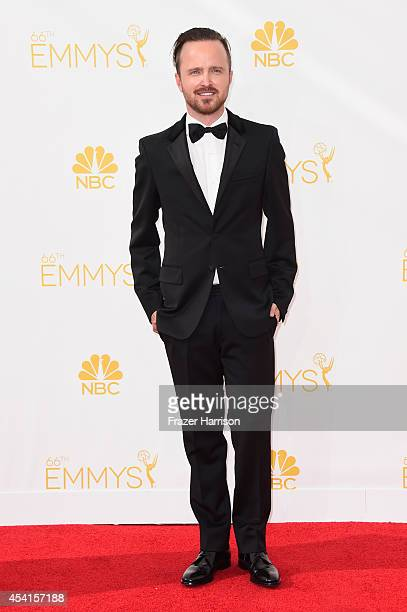Actor Aaron Paul attends the 66th Annual Primetime Emmy Awards held at Nokia Theatre LA Live on August 25 2014 in Los Angeles California