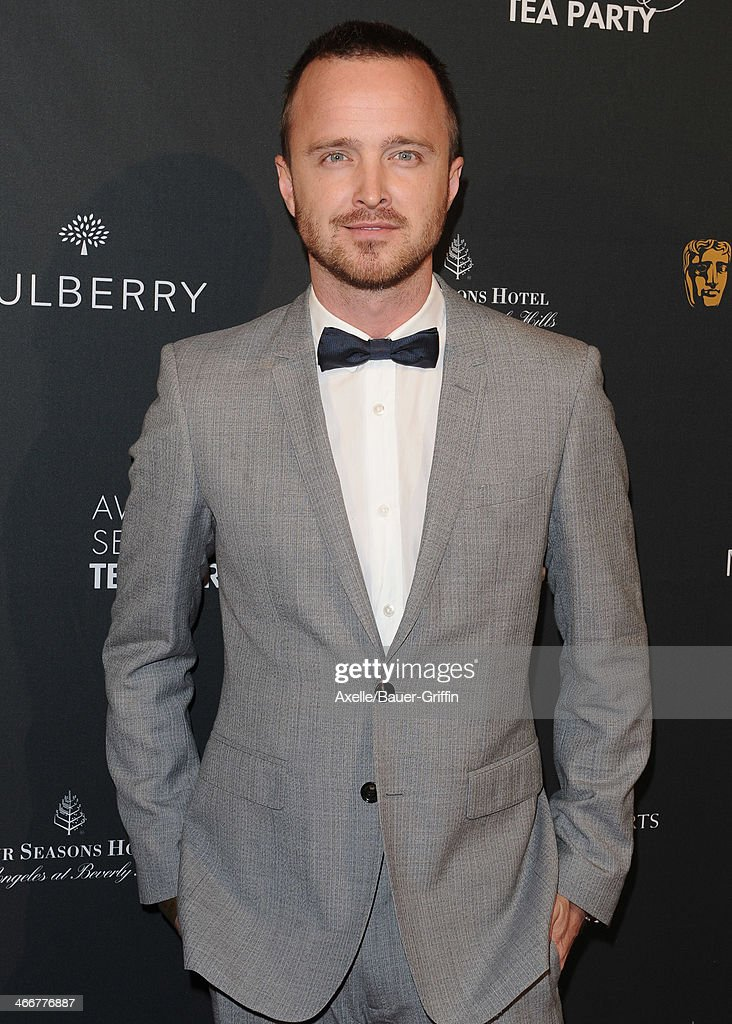 Actor <a gi-track='captionPersonalityLinkClicked' href=/galleries/search?phrase=Aaron+Paul+-+Actor&family=editorial&specificpeople=693211 ng-click='$event.stopPropagation()'>Aaron Paul</a> attends the BAFTA LA 2014 Awards Season Tea Party at Four Seasons Hotel Los Angeles in Beverly Hills on January 11, 2014 in Beverly Hills, California.