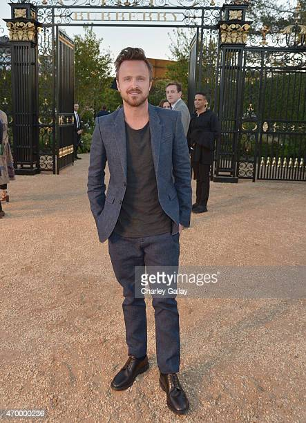 Actor Aaron Paul attends the Burberry 'London in Los Angeles' event at Griffith Observatory on April 16 2015 in Los Angeles California