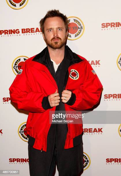 Actor Aaron Paul attends the City Year Los Angeles 'Spring Break' Fundraiser at Sony Studios on April 19 2014 in Los Angeles California