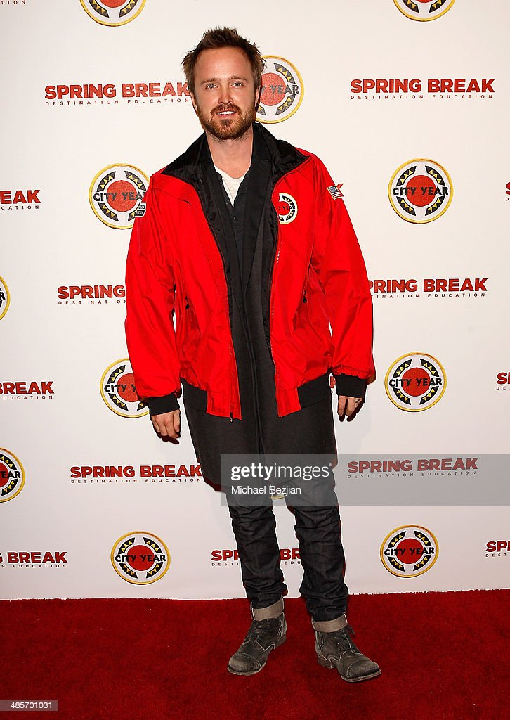 Actor <a gi-track='captionPersonalityLinkClicked' href=/galleries/search?phrase=Aaron+Paul+-+Actor&family=editorial&specificpeople=693211 ng-click='$event.stopPropagation()'>Aaron Paul</a> attends the City Year Los Angeles 'Spring Break' Fundraiser at Sony Studios on April 19, 2014 in Los Angeles, California.
