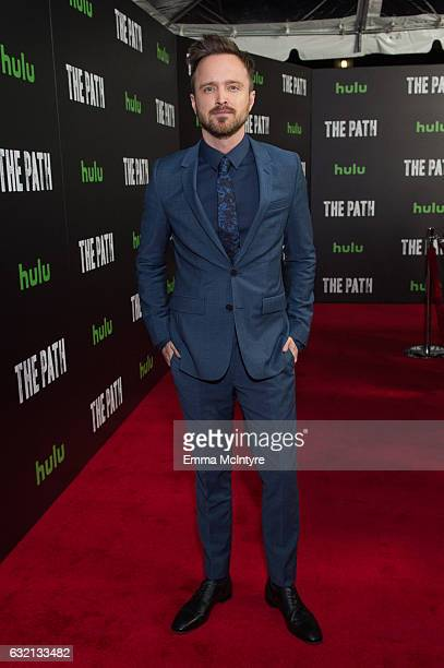 Actor Aaron Paul attends the premiere of Hulu's 'The Path' Season 2 at Sundance Sunset Cinema on January 19 2017 in Los Angeles California
