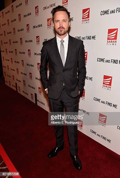 Actor Aaron Paul attends the premiere of Saban Films' 'Come And Find Me' at Pacific Theatre at The Grove on November 3 2016 in Los Angeles California