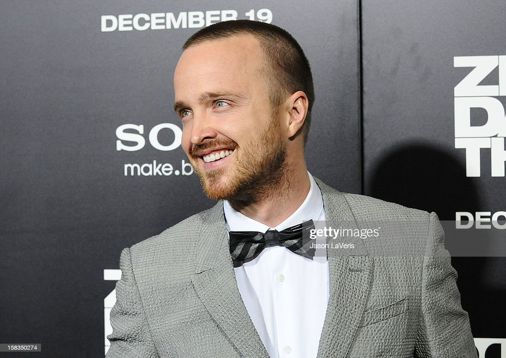 Actor Aaron Paul attends the premiere of 'Zero Dark Thirty' at the Dolby Theatre on December 10, 2012 in Hollywood, California.