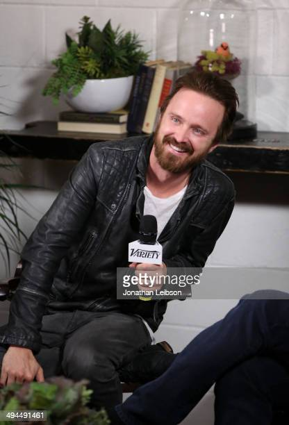 Actor Aaron Paul attends the Variety Studio powered by Samsung Galaxy at Palihouse on May 29 2014 in West Hollywood California