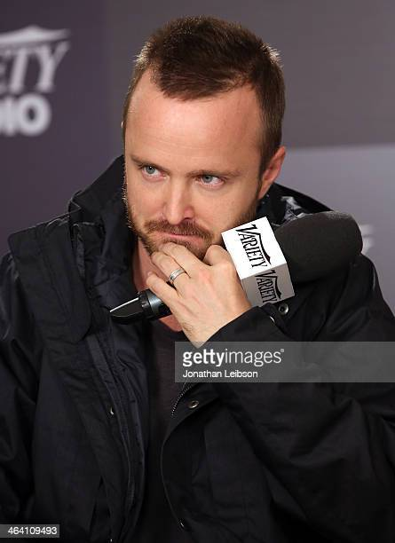 Actor Aaron Paul attends The Variety Studio Sundance Edition Presented By Dawn Levy on January 20 2014 in Park City Utah