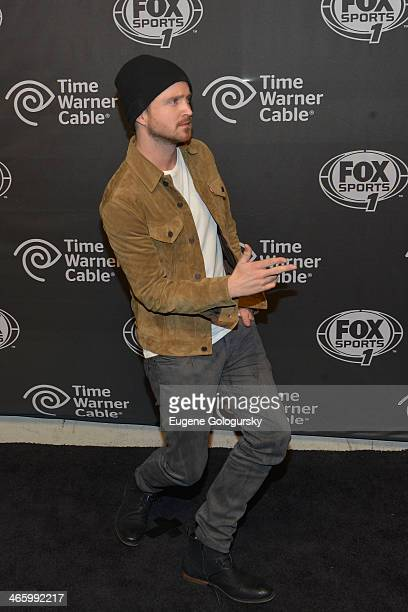 Actor Aaron Paul attends Time Warner Cable Studios Presents FOX Sports 1 Thursday Night Super Bash on January 30 2014 in New York City