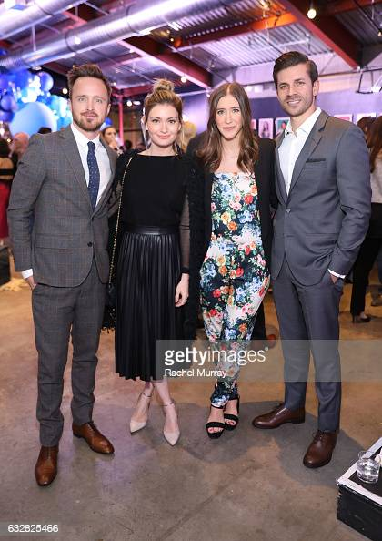 Actor Aaron Paul Founders of The Kind Campaign Lauren Paul and Molly Thompson attend Create Cultivate 100 hosted by Create Cultivate and Keds at The...