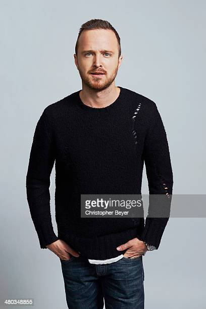 Actor Aaron Paul is photographed for Entertainment Weekly Magazine on January 25 2014 in Park City Utah