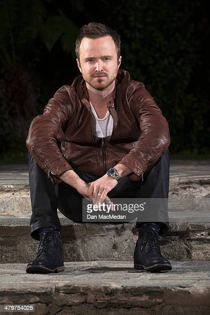 Actor Aaron Paul is photographed for USA Today on February 21 2014 in Century City California PUBLISHED IMAGE