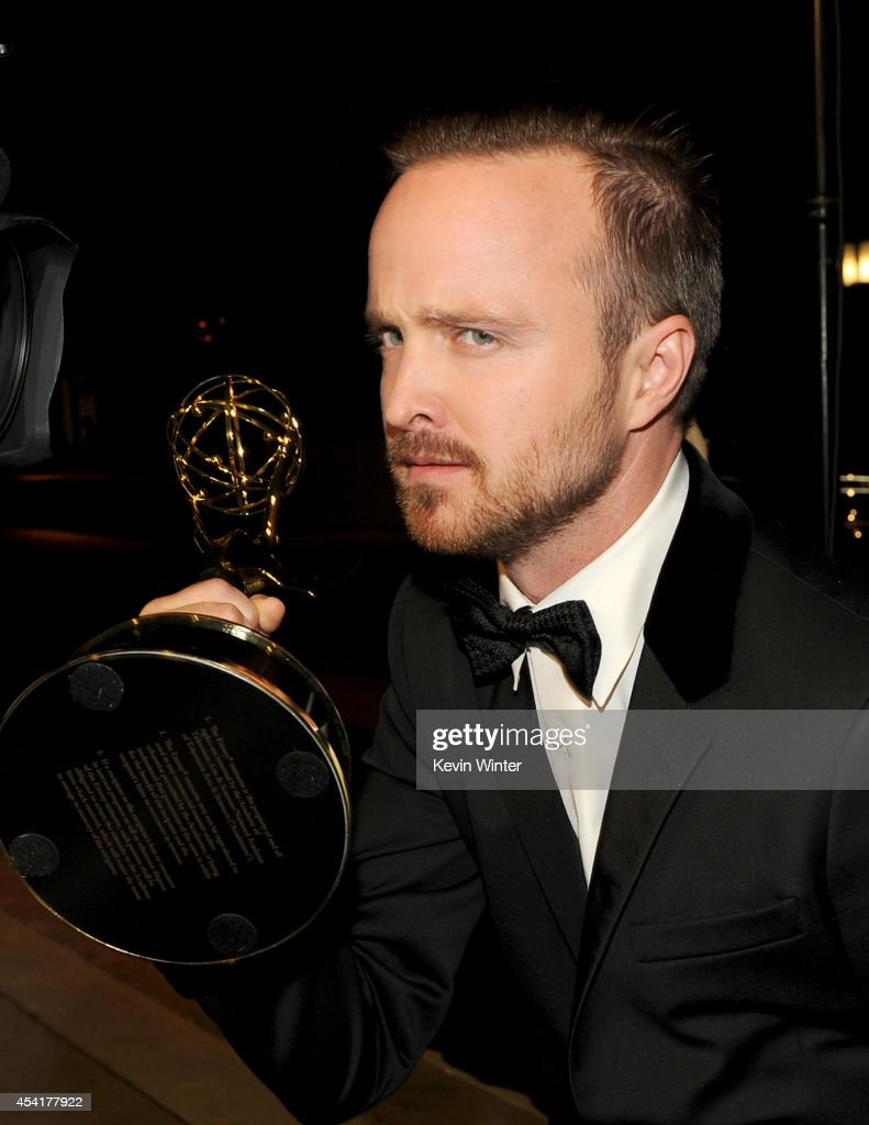 Actor Aaron Paul winner of Outstanding Supporting Actor in a Drama Series for 'Breaking Bad', attends the 66th Annual Primetime Emmy Awards Governors Ball held at Los Angeles Convention Center on August 25, 2014 in Los Angeles, California.