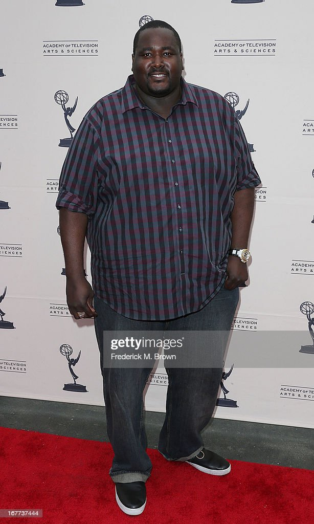 Actor Aaron Quinton attends the Academy of Television Arts & Sciences' Presents an Evening with Michael Buble at the Wadsworth Theater on April 28, 2013 in Los Angeles, California.