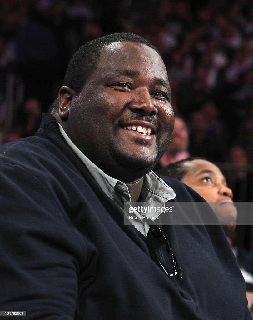 Actor Aaron Quinton (The Blind Side) attends the game between the New York Knicks and the Memphis Grizzlies at Madison Square Garden on March 27, 2013 in New York City. The Knicks defeated the Grizzlies 108-101.NOTE