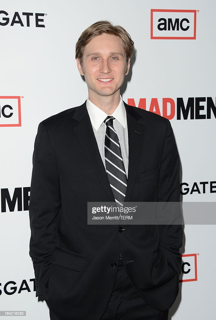Actor Aaron Staton arrives at the Premiere of AMC's 'Mad Men' Season 6 at DGA Theater on March 20, 2013 in Los Angeles, California.