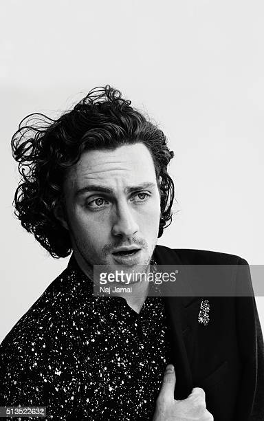 Actor Aaron Taylor Johnson is photographed for L'Officiel Hommes Italia on May 1 2015 in Los Angeles California