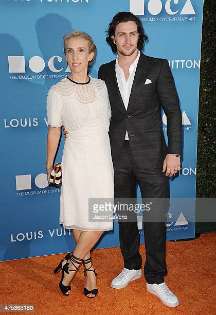 Actor Aaron TaylorJohnson and director Sam TaylorJohnson attend the 2015 MOCA Gala at The Geffen Contemporary at MOCA on May 30 2015 in Los Angeles...
