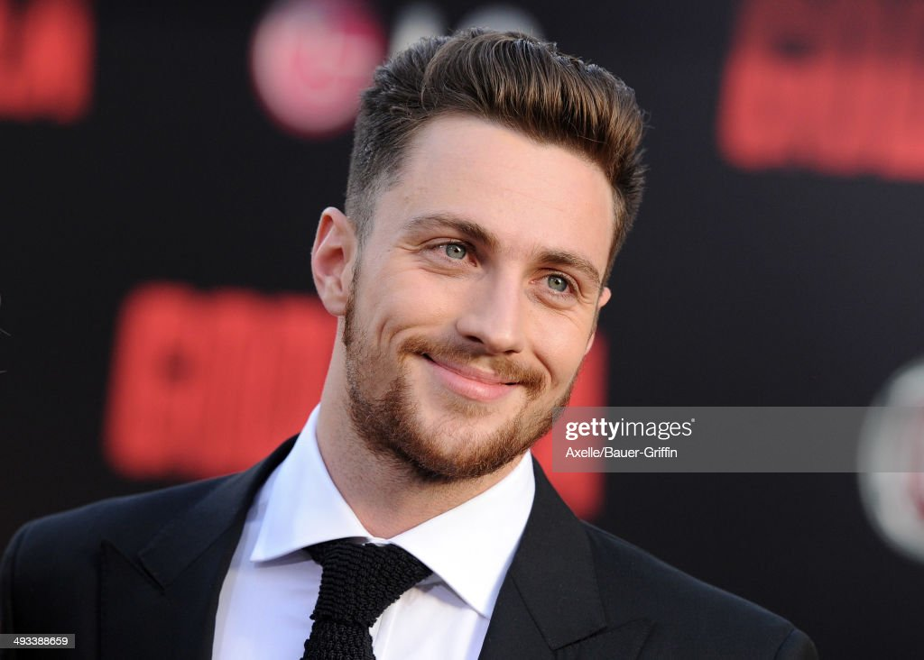 Actor Aaron Taylor-Johnson arrives at the Los Angeles premiere of 'Godzilla' at Dolby Theatre on May 8, 2014 in Hollywood, California.