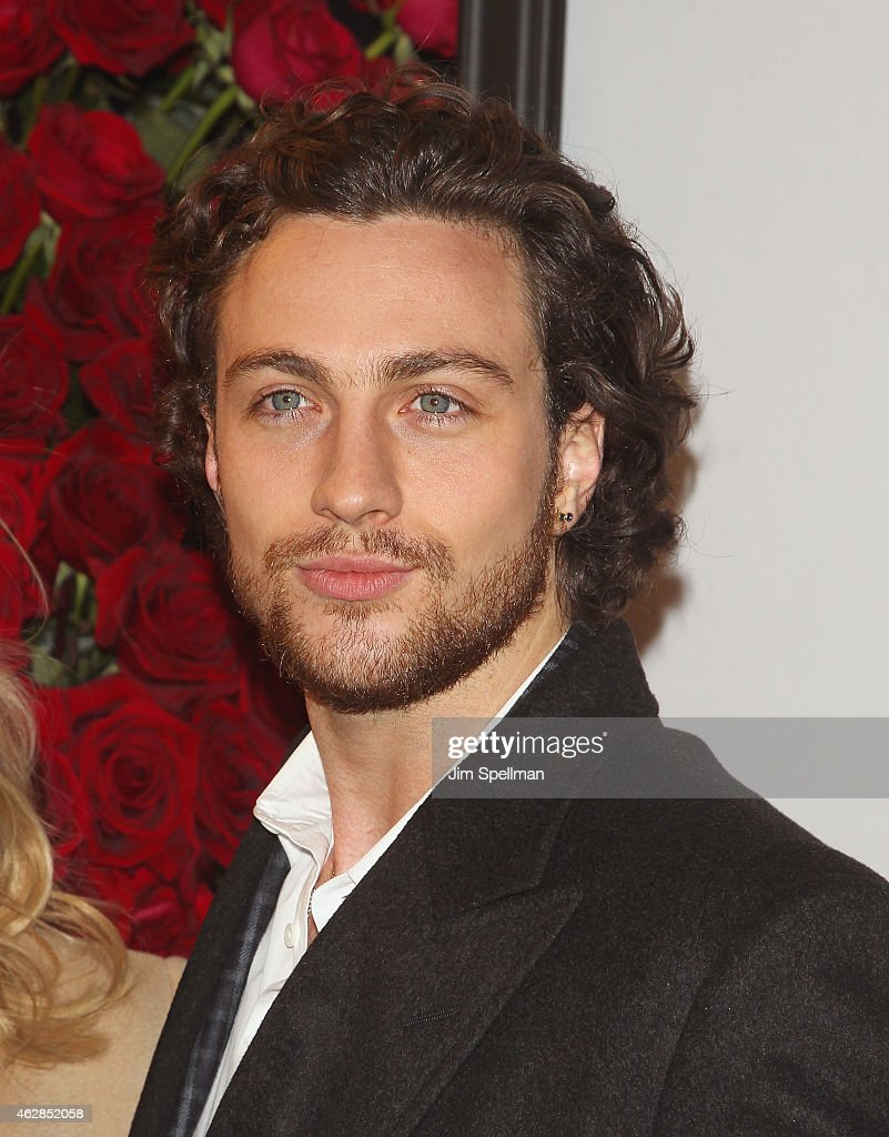 Actor Aaron Taylor-Johnson attend the 'Fifty Shades Of Grey' New York fan first screening at Ziegfeld Theatre on February 6, 2015 in New York City.