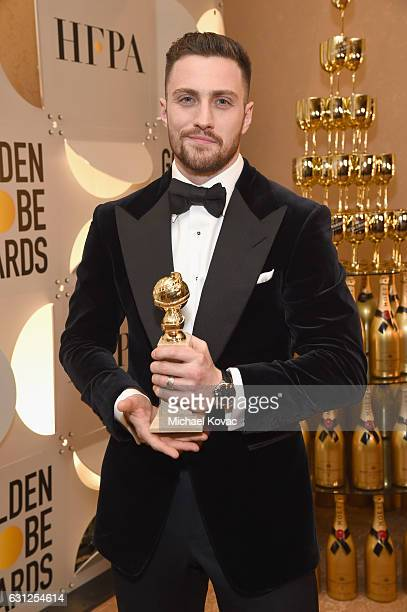 Actor Aaron TaylorJohnson attends the 74th Annual Golden Globe Awards at The Beverly Hilton Hotel on January 8 2017 in Beverly Hills California