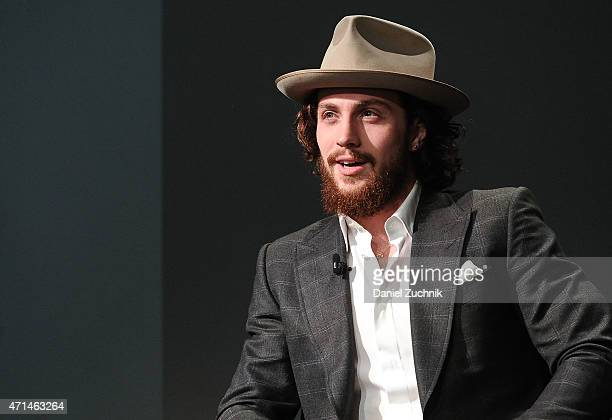 Actor Aaron TaylorJohnson attends the Apple Store Soho Presents Meet The Actor Elizabeth Olsen And Aaron TaylorJohnson 'Age of Ultron' at Apple Store...