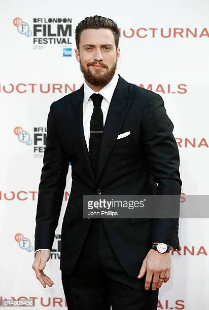 Actor Aaron TaylorJohnson attends the 'Nocturnal Animals' Headline Gala screening during the 60th BFI London Film Festival at Odeon Leicester Square...