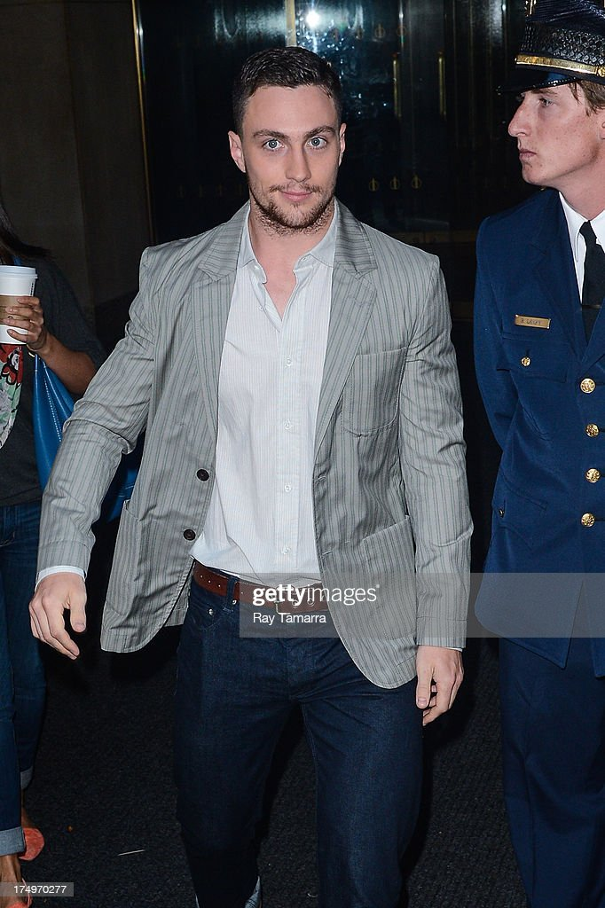 Actor Aaron Taylor-Johnson leaves the 'Today Show' taping at the NBC Rockefeller Center Studios on July 29, 2013 in New York City.