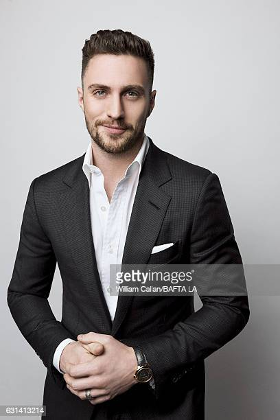 Actor Aaron TaylorJohnson poses for a portraits at the BAFTA Tea Party at Four Seasons Hotel Los Angeles at Beverly Hills on January 7 2017 in Los...