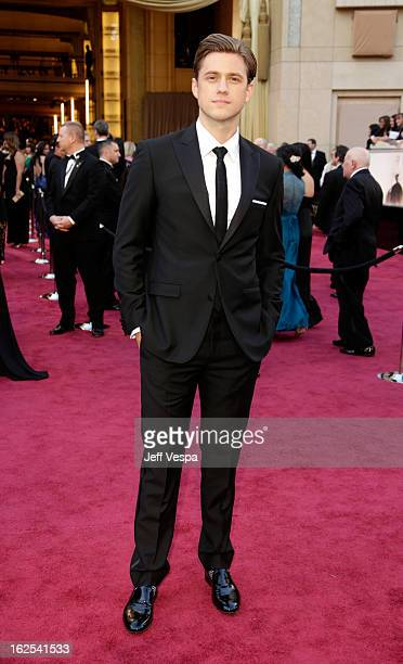 Actor Aaron Tveit arrives at the Oscars at Hollywood Highland Center on February 24 2013 in Hollywood California