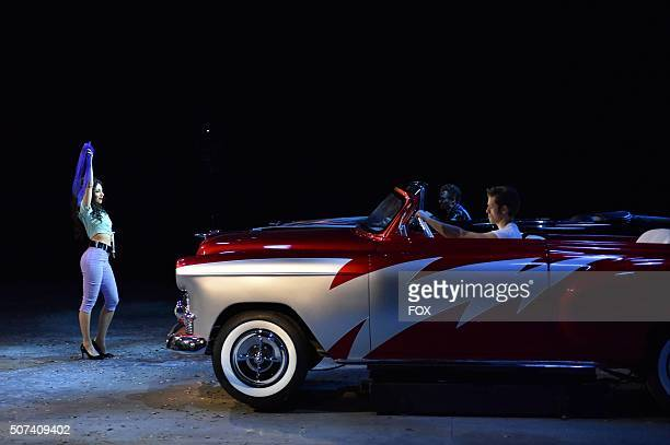 LIVE Actor Aaron Tveit as 'Danny Zuko' during the dress rehearsal for GREASE LIVE airing LIVE Sunday Jan 31 on FOX