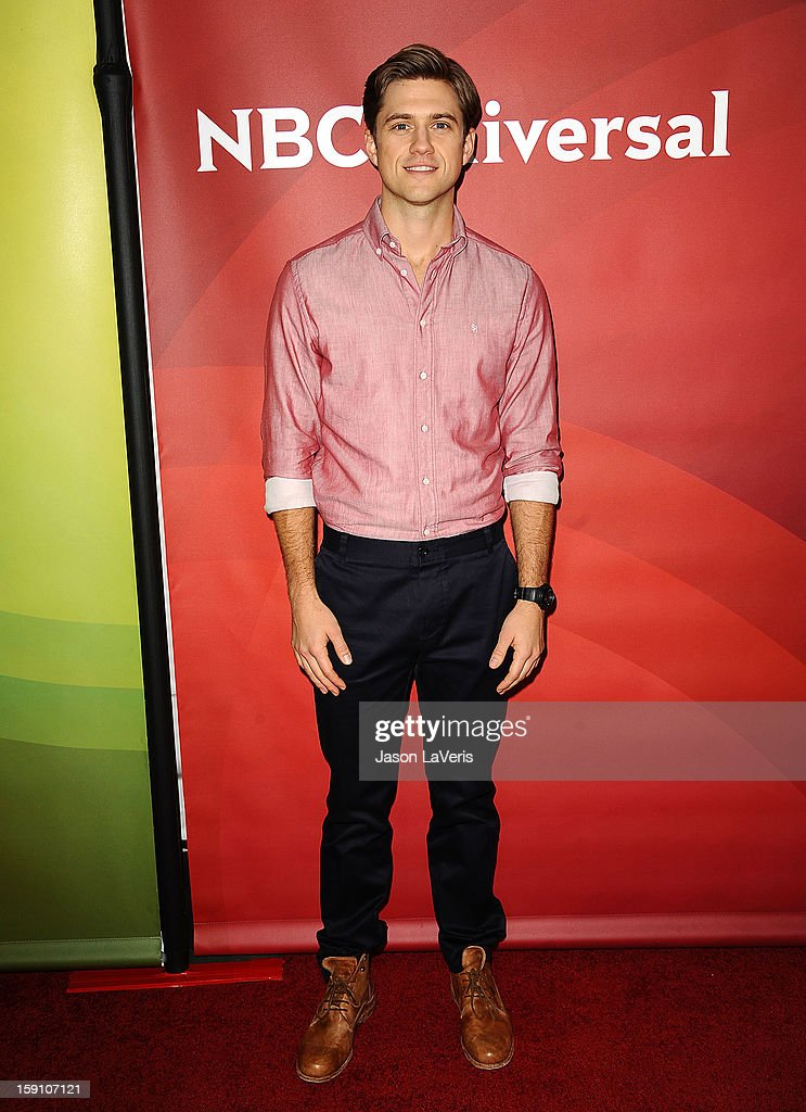 Actor Aaron Tveit attends the 2013 NBC TCA Winter Press Tour at The Langham Huntington Hotel and Spa on January 7, 2013 in Pasadena, California.