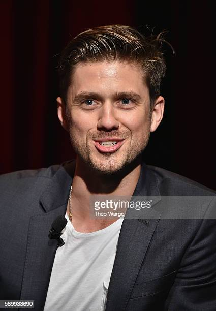 Actor Aaron Tveit attends the 'Grease Live' Panel Reception at The Edison Ballroom on August 15 2016 in New York City