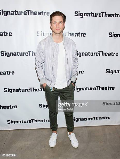 Actor Aaron Tveit attends the opening night of 'Daphne's Dive' at Signature Theatre Company's Pershing Square Signature Center on May 15 2016 in New...