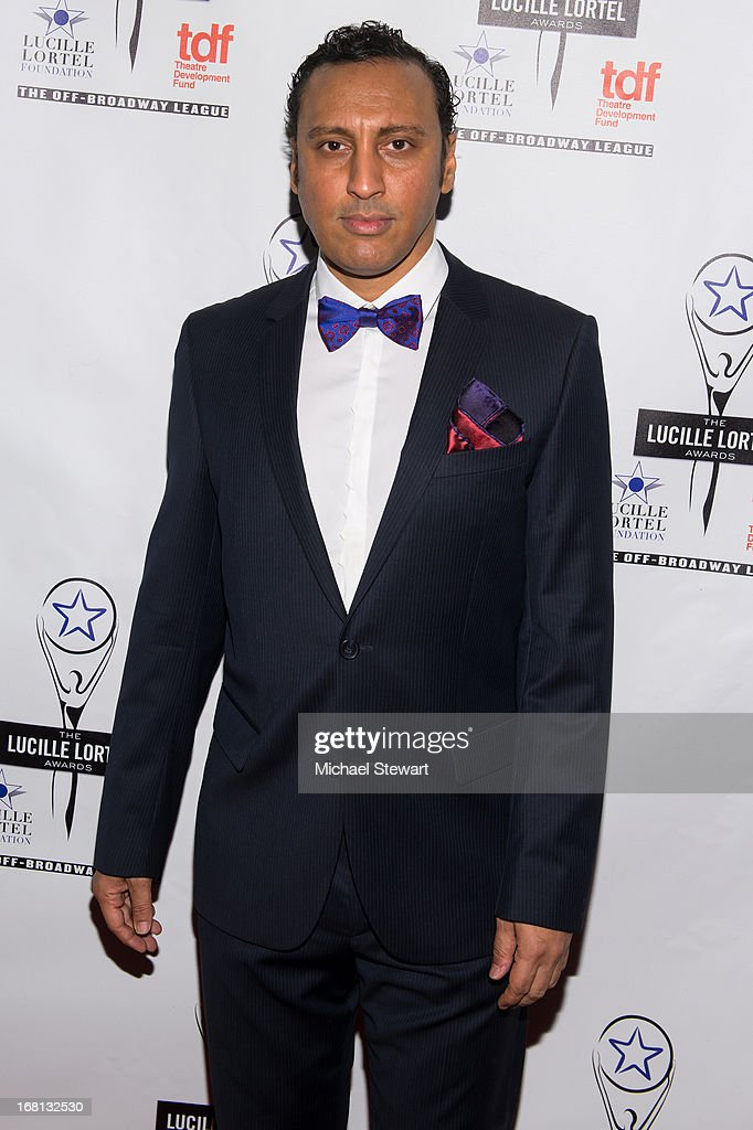 Actor Aasif Mandvi attends the 2013 Lucille Lortel Awards at Jack H. Skirball Center for the Performing Arts on May 5, 2013 in New York City.