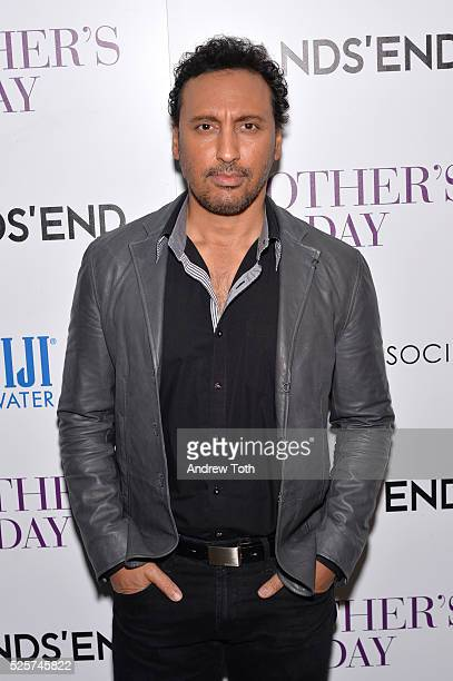 Actor Aasif Mandvi attends The Cinema Society with Lands' End host a screening of Open Road Films' 'Mother's Day' on April 28 2016 in New York City