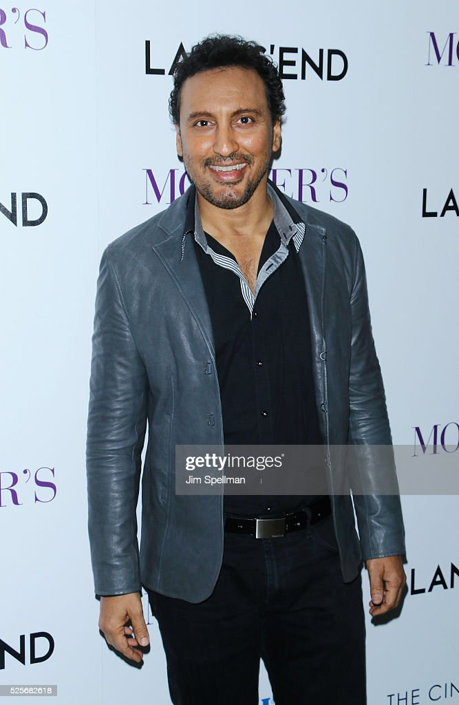 Actor Aasif Mandvi attends the screening of Open Road Films' 'Mother's Day' hosted by The Cinema Society with Lands' End at Metrograph on April 28, 2016 in New York City.