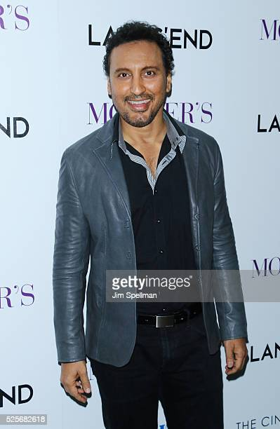Actor Aasif Mandvi attends the screening of Open Road Films' 'Mother's Day' hosted by The Cinema Society with Lands' End at Metrograph on April 28...
