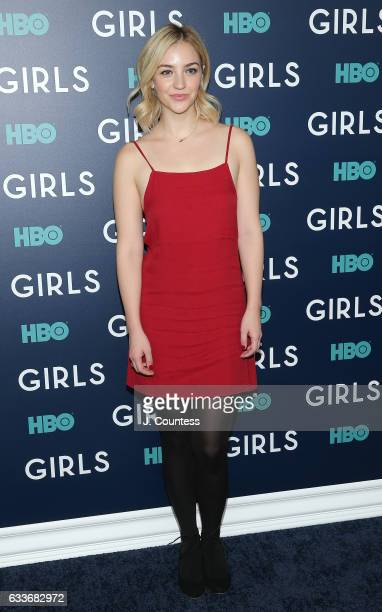 Actor Abby Elliott attends The New York Premiere Of The Sixth Final Season Of 'Girls' at Alice Tully Hall Lincoln Center on February 2 2017 in New...