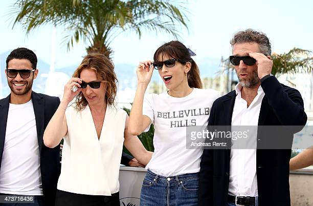 Actor Abdel Addala actress Emmanuelle Bercot director Maiwenn and actor Vincent Cassel attend a photocall for 'Mon Roi' during the 68th annual Cannes...