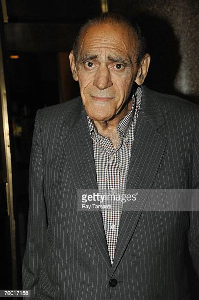 Actor Abe Vigoda attends the 'Late Night with Conan O'Brien' taping at the NBC Studios August 7 2007 in New York City