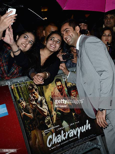 Actor Abhay Deol attends the 'Chakravyuh' premiere during the 56th BFI London Film Festival at the Empire Leicester Square on October 11 2012 in...